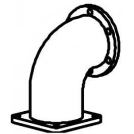 Kolano od turbiny MAN TGA Dinex 47187 , Nr OE: 81.15204.0452
