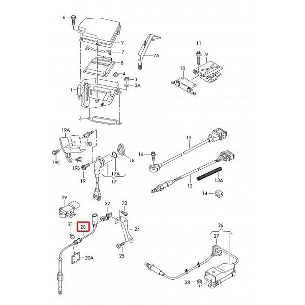 Tempe Volkswagen: Czujnik Temperatury Spalin Oryginał VOLKSWAGEN SEAT