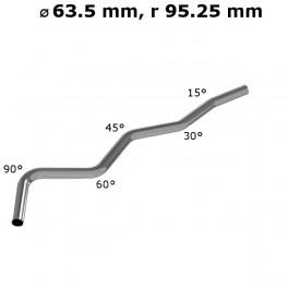 Rura gięta ⌀ 63,5 mm ze stali nierdzewnej AISI 304, promień gięcia 1.5 ⌀