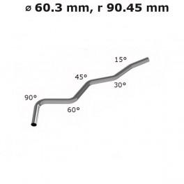 Rura gięta ⌀ 60,3 mm ze stali nierdzewnej AISI 304, promień gięcia 1.5 ⌀